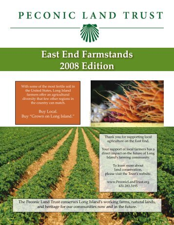 East End Farmstands 2008 Edition - Peconic Land Trust