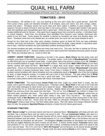 QUAIL HILL FARM - Peconic Land Trust