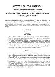 OZV č. 6-2006 o závazné části územního plánu ... - Pec pod Sněžkou