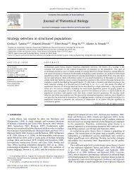 Strategy selection in structured populations ARTICLE - Program for ...