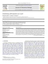 Evolutionary shift dynamics on a cycle - Program for Evolutionary ...