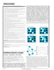 Evolutionary dynamics on graphs - Program for Evolutionary ...