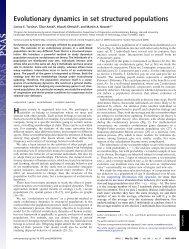 Evolutionary dynamics in set structured populations - Program for ...