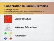 Cooperation in social dilemmas - Program for Evolutionary ...