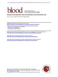 Acquired hematopoietic stem-cell disorders and mammalian size