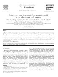 Evolutionary game dynamics in finite populations with strong ...