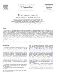 Direct reciprocity on graphs - Program for Evolutionary Dynamics ...
