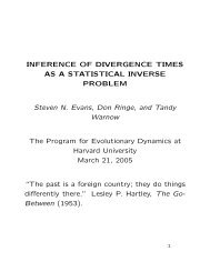 INFERENCE OF DIVERGENCE TIMES AS A STATISTICAL ...