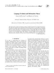 Language Evolution and Information Theory - Joshua Plotkin