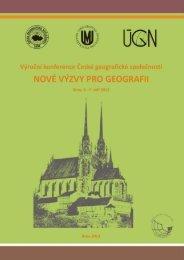 Nové výzvy pro geografii - Pedagogická fakulta MU - Masarykova ...