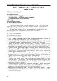 Tématické okruhy ke SZZ baka'ářské prezenční studium