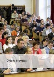 Úvodní informace - Pedagogická fakulta MU