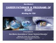 career pathways & programs of study - New Mexico State ...
