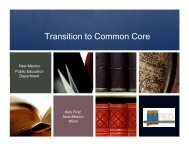Transition to Common Core - New Mexico State Department of ...
