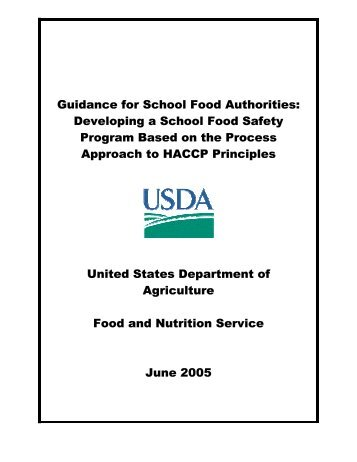 Tool for the development of a Food Safety Program for