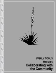 FAMILY TOOLS Module 6: Collaborating with - New Mexico State ...