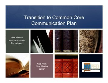 Transition to Common Core Communication Plan - New Mexico ...