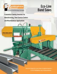 Eco-Line Band Saws - Peddinghaus