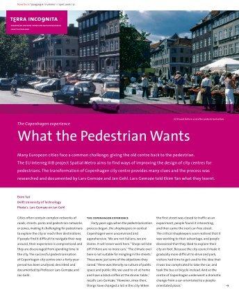 What the Pedestrian Wants - International Federation of Pedestrians