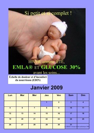 Si petit et si complet ! EMLA® ET GLUCOSE 30% Janvier 2009