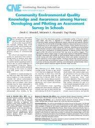 Community Environmental Quality Knowledge ... - Pediatric Nursing