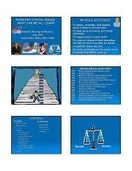 RESEARCH HISTORY AGENDA - Pediatric Nursing