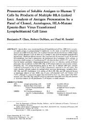 Presentation of Soluble Antigen to Human T Cells by Products of ...