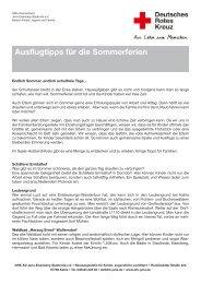 Ausflugtipps für die Sommerferien - DRK-Kreisverband Jena ...