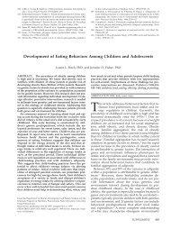 Development of Eating Behaviors Among Children and ... - Pediatrics