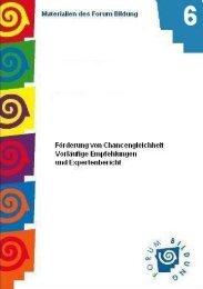 Förderung von Chancengleichheit - Bund-Länder-Kommission für ...