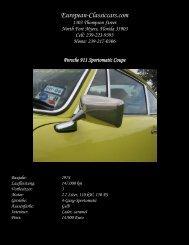 1974 Porsche 911 2.7 Sportomatic im ... - European-Classiccars