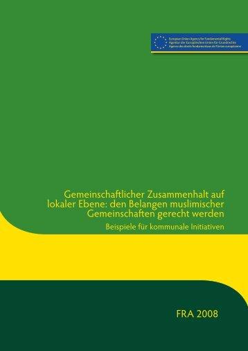 Gemeinschaftlicher Zusammenhalt auf lokaler Ebene - European ...