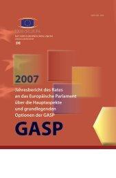 Jahresbericht des Rates an das Europäische Parlament über die ...