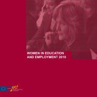 WOMEN IN EDUCATION AND EMPLOYMENT 2010