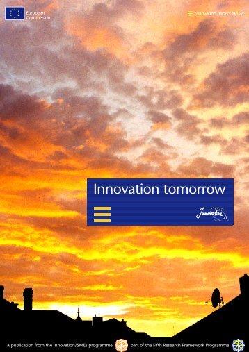 Innovation tomorrow - Europa