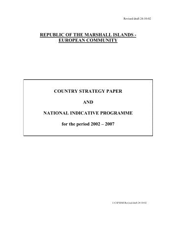 Country Strategy Paper 2002-2007 - European Commission