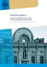 Corporate effective tax rates in an enlarged European Union