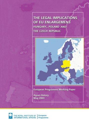 THE LEGAL IMPLICATIONS OF EU ENLARGEMENT THE LEGAL ...