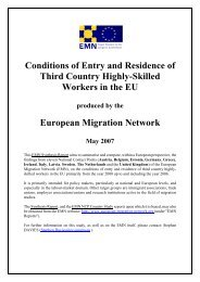 Conditions of Entry and Residence of Third Country Highly-Skilled