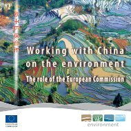 Working with China on the environment