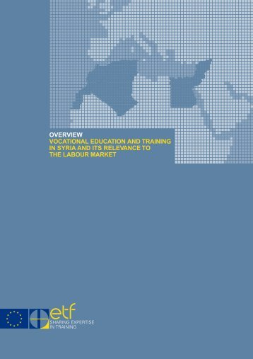 Vocational education and training in Syria and its relevance to the ...