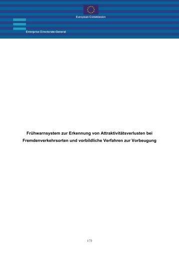 Fruhwarnsystem zur Erkennung von Attraktivitatsverlusten ... - Europa