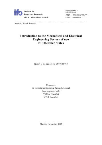 EUROPA - Introduction to the Mechanical and Electrical Engineering ...