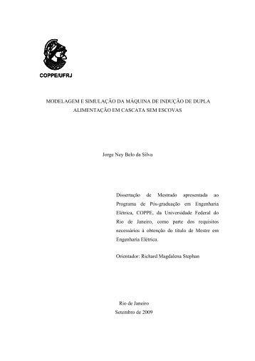 MODELAGEM E SIMULAÇÃO DA MÁQUINA DE INDUÇÃO DE ...