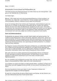 Kritik der Schwäbischen Zeitung - Dramatischer Verein Biberach