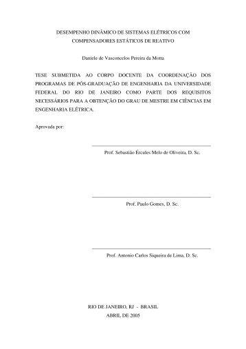 + x - Programa de Engenharia Elétrica - UFRJ