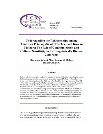 Understanding the Relationships among ... - Peel Early Years