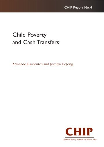 Child Poverty and Cash Transfers - Peel Early Years