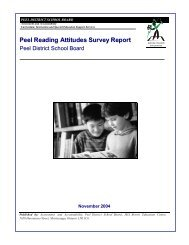 Peel Reading Attitudes Survey Report, 2004 - Peel Early Years