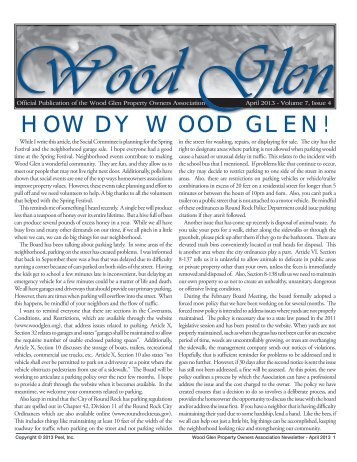 Howdy Wood Glen! - Peel, Inc.